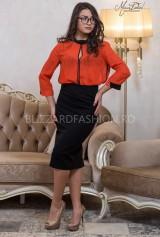 Camasa portocalie cu buline negre
