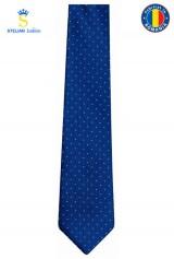 Cravata albastra cu picouri