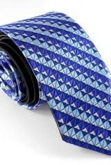 Cravata colorata cu figuri geometrice