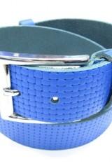 Curea YSK, piele naturala, culoare albastru