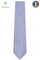 Cravata bleu cu picouri