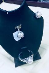 Set argint 925 cu perle