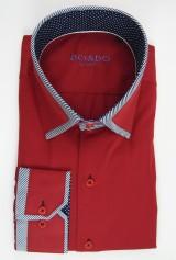 Camasa DO&DO slim rosie cu mansete si guler model combinate bleumarin cu alb