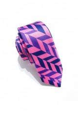 Cravata slim, imprimeu bradut