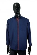 Camasa Albertino casual bleumarin cu buzunar