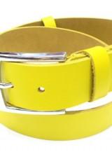 Curea YSK, piele naturala, culoare galben