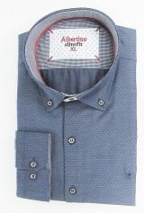 Camasa Albertino bleumarin spre gri cu romburi mici