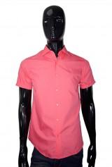 Camasa slim DO&DO roz cu maneca scurta