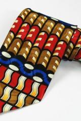 Cravata cu figuri geometrice multicolore